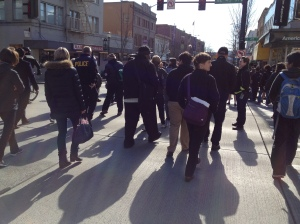 "Walking the U District on the Mayor's ""Find It, FIx It"" Tour, Feb 2015"