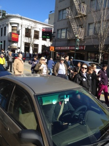 "A giant walking meeting happened at the U District ""Find It, Fix It"" tour."